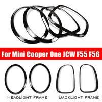 NEW 4Pcs/Set Car Headlight Head Tail Rear Lamps Rim Trim Ring Covers For Mini Cooper One JCW F55 F56 Car styling Accessories