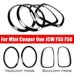 Nuevo 4 unids/set faros delanteros de coche luces traseras cubiertas de anillo de borde para Mini Cooper One JCW F55 F56 accesorios de estilo de coche
