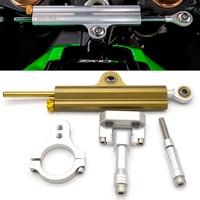 CNC Aluminum Adjustable Motorcycles Steering Stabilize Damper Bracket Mount Kit For YAMAHA R3 MT 03 MT03