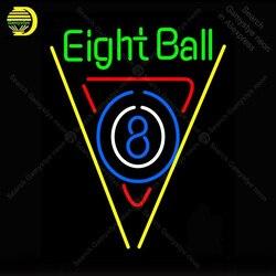 Неоновая вывеска для восьми шаров бассейн Бар неоновый сигнал лампы ручной работы Пивной Бар паба стеклянная неоновая вывеска украшение от...