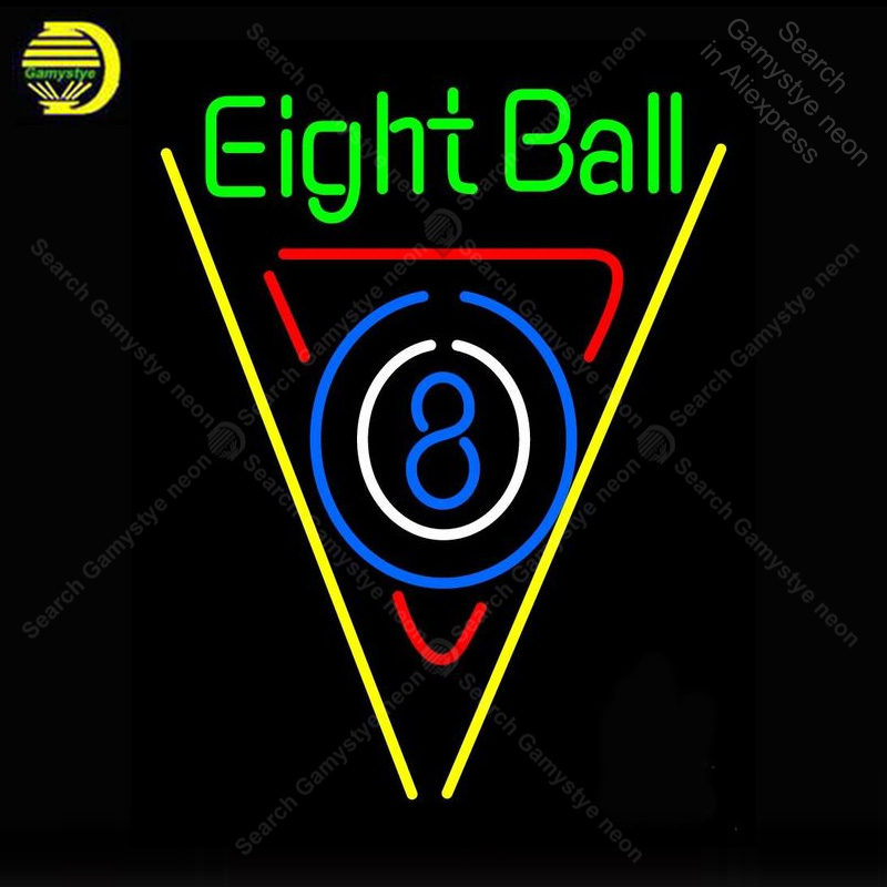 Neon Sign For Eight Ball Pool Bar Neon Bulb Sign Handcraft Beer Bar Pub Glass Neon Signboard Decorate Hotel Restaurant Wall Lamp