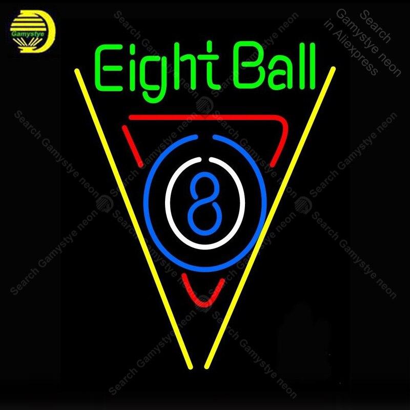 Neon znak dla Eight Ball Bar przy basenie żarówka znak Neon znak rzemieślnicze Beer bar pub szkło neon szyld dekoracji hotelu restauracja lampa ścienna