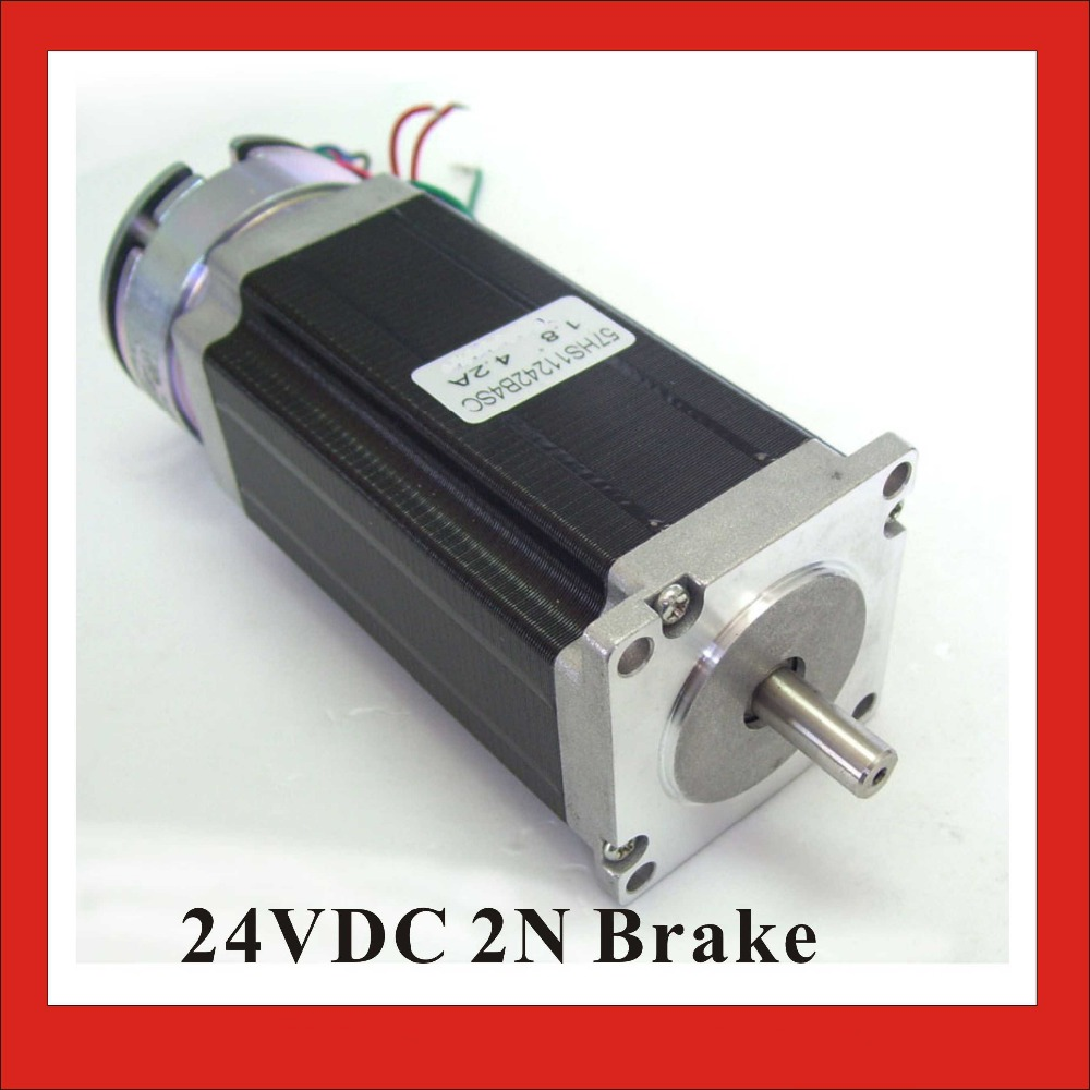 24VDC 2N Brake NEMA23 Stepper Motor 57mm Brake Stepper Motor 112mm Body Length CE ROHS CNC24VDC 2N Brake NEMA23 Stepper Motor 57mm Brake Stepper Motor 112mm Body Length CE ROHS CNC