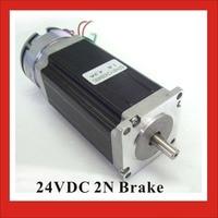 24VDC 2N Brake NEMA23 Stepper Motor 57mm Brake Stepper Motor 112mm Body Length CE ROHS CNC