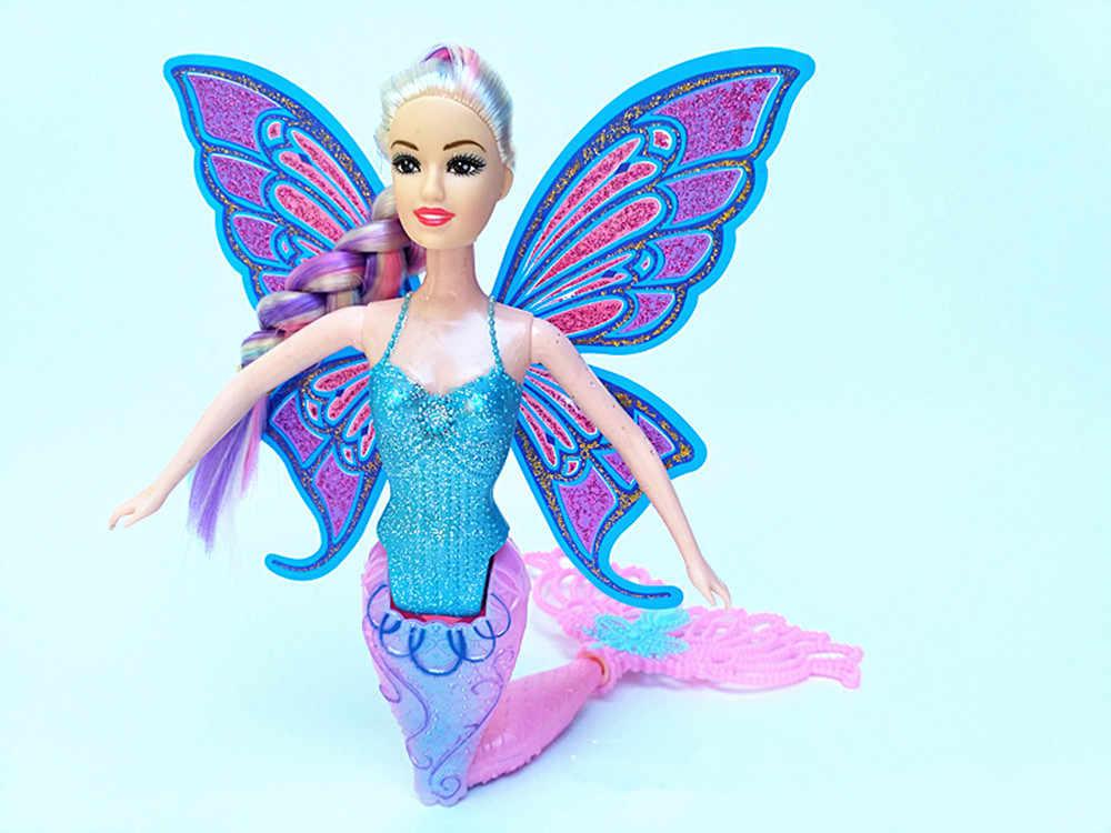 2019 ใหม่แฟชั่นว่ายน้ำ Mermaid ตุ๊กตามายากล Classic Mermaid ตุ๊กตาผีเสื้อปีกของเล่นสำหรับสาววันเกิดของขวัญ