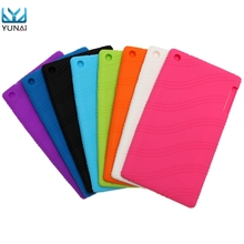 YUNAI Soft Slim Silicone Cover Back Skin Case For Lenovo Tab 2 A7-30 High Quality Cover case For Lenovo New Tablet Case 7inch