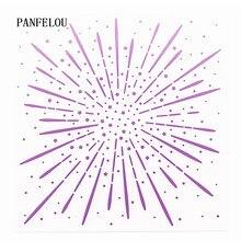 PANFELOU романтические фейерверки папки для тиснения пластик для скрапбукинга DIY шаблон помадка торт фотоальбом открыток