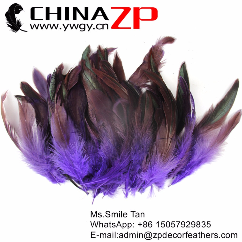 BULK 50pcs Natural Tan Bronze Rooster Coque Feathers 12-20cm DIY Craft Millinery