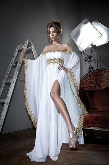 Chiffon Long Sleeves Gold Lace Applique Strapless Moroccan Kaftan Formal Long Evening Arabic 2018 Mother Of The Bride Dresses