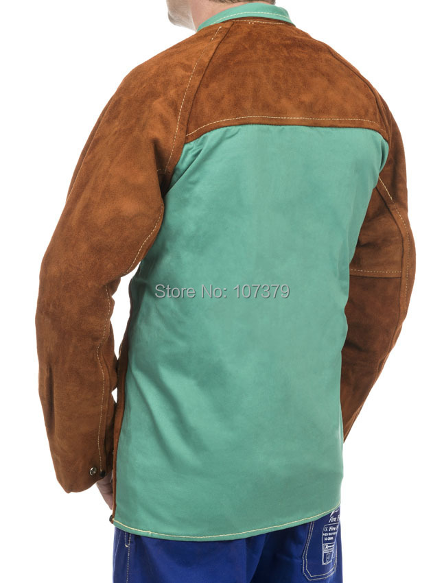 Flame Retardant Welding Clothing Split Cow Leather Welding Jackets flame trees of thika