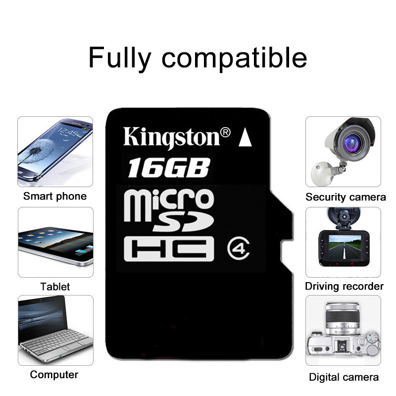 Image 4 - Kingston Technology Canvas Select 16GB microSDHC Class 4 Memory Card with Adapter 16 GB micro sd card 4MB/s data read speeds-in Memory Cards from Computer & Office