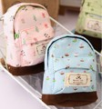 Новая мода kawaii ткань холст мини цветочные рюкзак женщин девушки дети дешевые изменения мешок монетки кошельки сцепления сумки оптом