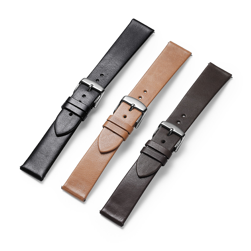 Image 4 - CHIMAERA Watch Band Quick Release Leather Strap Black Brown Coffee 18mm 19mm 20mm 21mm 22mm Watch Band Strap Silver Buckle Clasp-in Watchbands from Watches