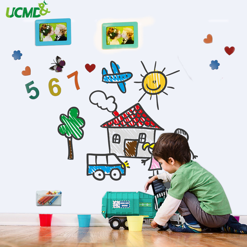 Soft Whiteboard Hold Magnets Wall Stickers Home Office Erasable Writing Message Board Kids Drawing Painting Graffiti Toy Gift