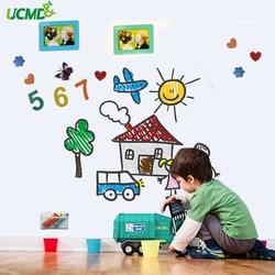 Zachte Whiteboard Hold Magneten muurstickers Home Office Uitwisbare Schrijven Message Board Kids Tekening Schilderen Graffiti Speelgoed Gift