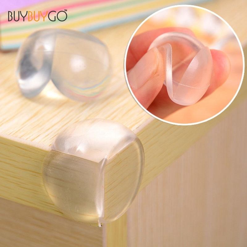 10 stk. Baby Transparent kugleformet kant- og hjørneafskærmning - Sikkerhedsudstyr til baby