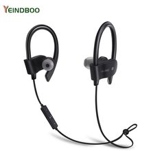 YEINDBOO Wireless Bluetooth Earphone Sports Sweat proof Stereo Earbuds Headset In-Ear Earphones with Mic for iPhone & Smartphone syllable d300l sweat proof sports bluetooth earphones with mic