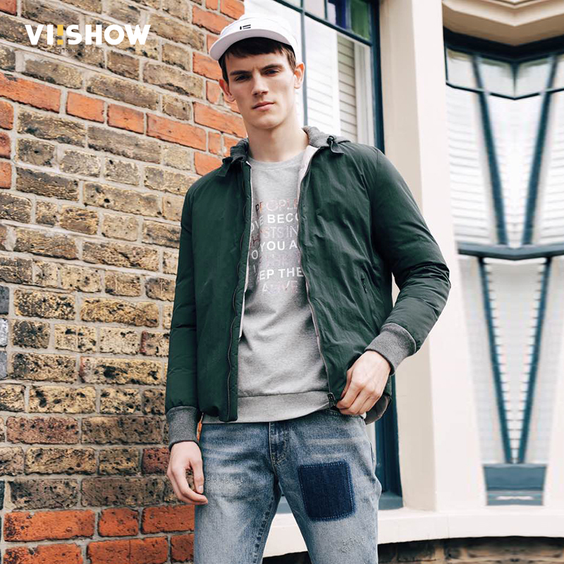 VIISHOW Winter Men Jacket 2017 Brand Casual Mens Jackets And Coats Parka Men Outwear Dark Green Jacket Male Clothing MC1677174 куртка turbokolor ewald plus jacket fw13 dark green l