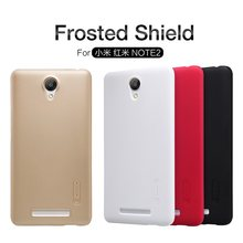 New Original NILLKIN Super Frosted Shield Case for Xiaomi Redmi Note 2 Back Cover Matte Protected Shell And Screen Film