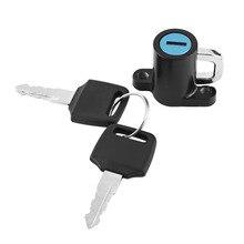 Lock Motorcycle-Helmet Motorbike Universal with 2-Keys-Set Hanging-Hook Car-Styling