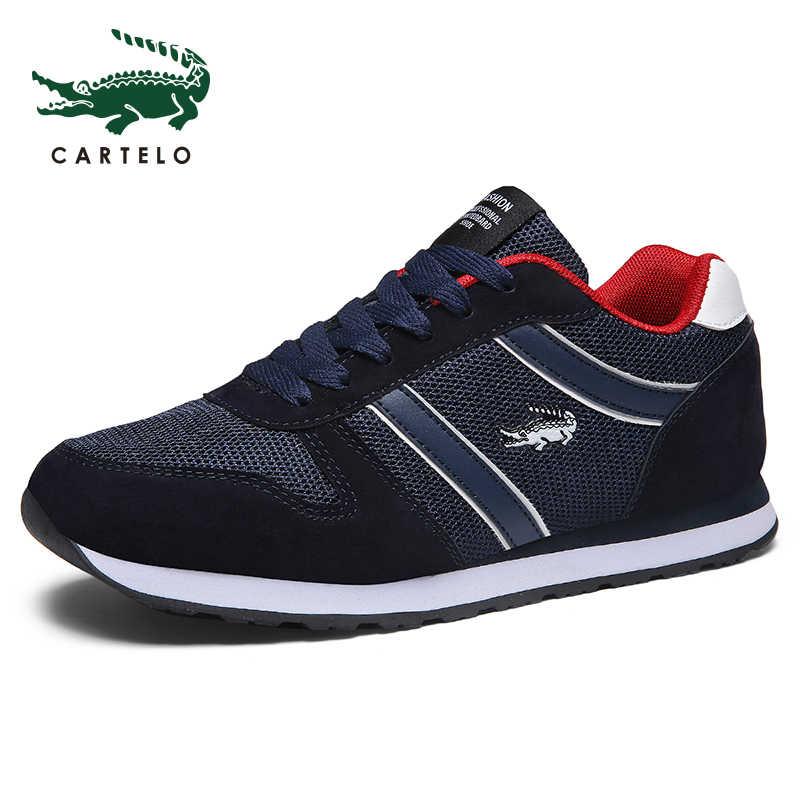 CARTELO mannen Schoenen Zomer Sneakers Ademende Casual Schoenen Outdoor Wandelschoenen Licht Loopschoenen Mannen