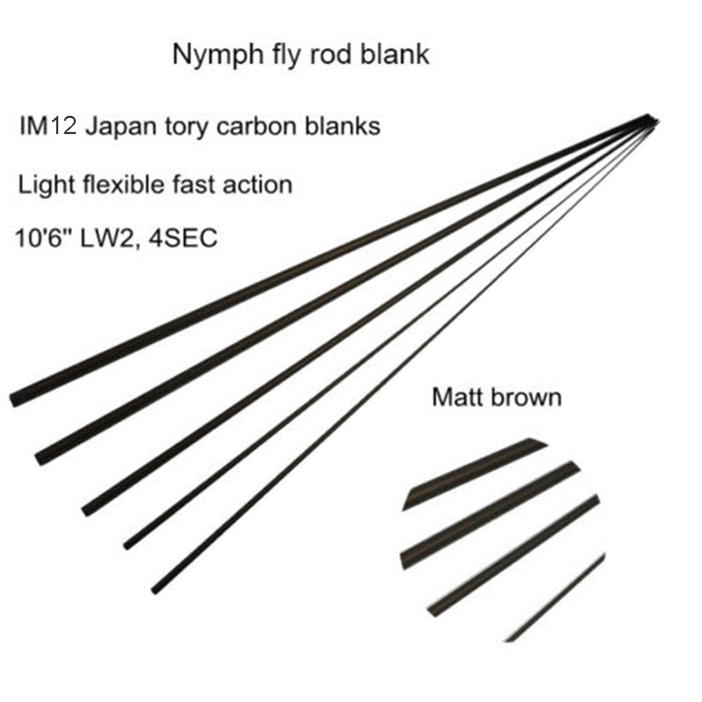 Aventik Nymph Casting 10 6 LW2 IM12 Carbon Fly Rod Blank Fast Action Matt Brown Fly