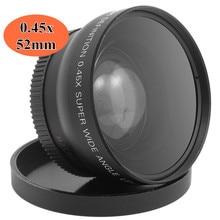 52 мм 0.45x широкоугольный макрообъектив с высоким разрешением широкие цифровые Объективы для Nikon Cannon sony DSLR камеры диаметром 52 мм
