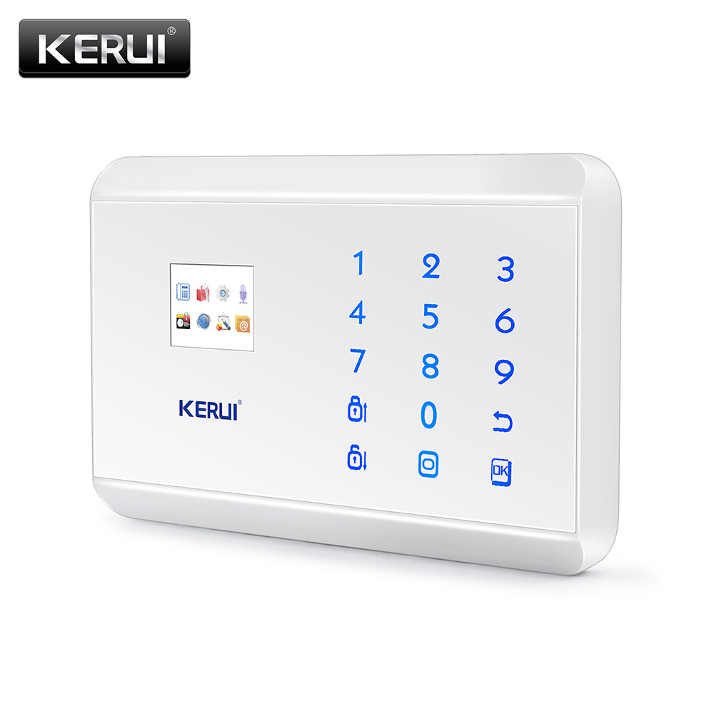 KERUI 8218G White Black Alarm Control Center Panel Android IOS APP control  GSM PSTN Home Burglar Security Alarm System