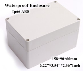 Abs Ip66 Waterproof Enclosure Electronic Plastic Box 158*90*60mm 6.223.542.36Inch Junction Distribution Switch Outdoor Box 175 175 100mm ip67 abs electronic enclosure box distribution control network cabinet switch junction outlet case 175x175x100mm