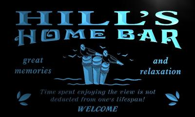 x1033-tm Hills Home Bar Beach House Custom Personalized Name Neon Sign Wholesale Dropshipping On/Off Switch 7 Colors DHL