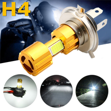 1pc H4 COB 18W LED Motorcycle Hi-Lo Beam Headlight Head Light Lamp Bulb 6500K White for victory motorcycles headlight head light led headlamp hi lo high low lamp 6500k for victory cross country motorcycle
