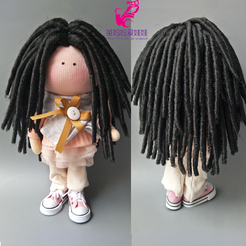 25-28CM Head Size Dolls Small Senegalese Twist Crochet Braids  For Handmade Cloth Doll DIY Hair Replace Hair For 18 Inch Dolls