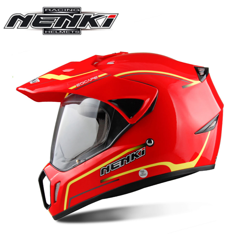 NENKI Motorcycle Helmet Moto Racing Helmet Cross Helmet Capacetes Full Face Motorcycle Adult Motocross Off Road Helmet 310