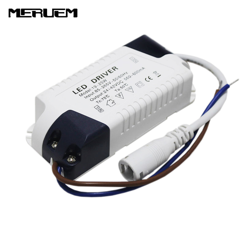 Penghantaran percuma 3pcs / lot 19-25W Led Lights Driver 20W-25W Power Supply Lighting Transformer AC85-265V Output: 560-600mA, DC24-42V