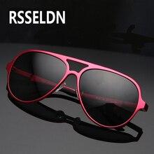 RSSELDN Aluminum alloy Polarized Sunglasses Men Coating Mirror Sun glasses Brand Designer Oculos Male Female Eyewear For Men