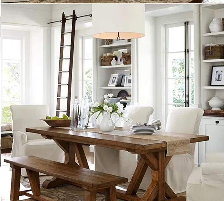 Sólida Vintage americana mesa de comedor de madera mesa de comedor ...