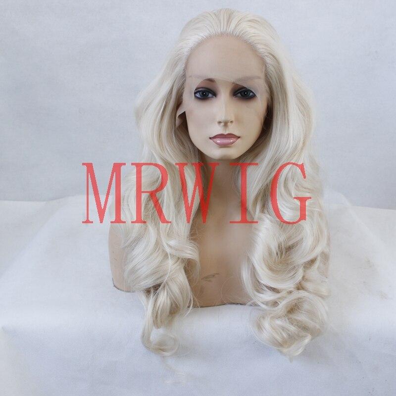 MRWIG parte libre peluca sintética larga ondulada # 0809 rubia pelo - Cabello sintético