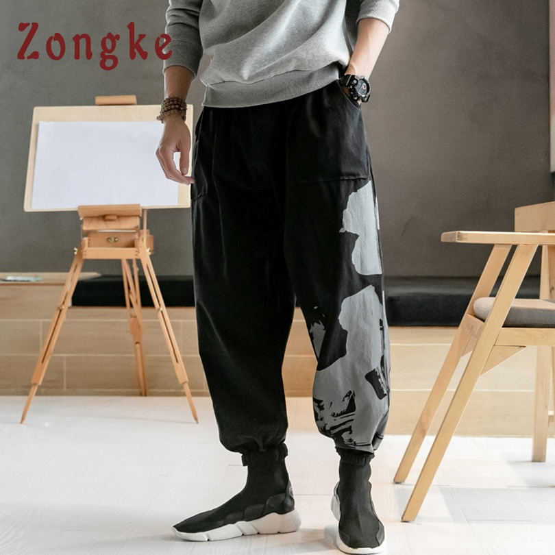 Pants Latest Collection Of Zongke Chinese Style Solid Color Pants Men Japanese Streetwear Sweatpants Harem Pants Men Trousers Men Pants 5xl 2019 Spring