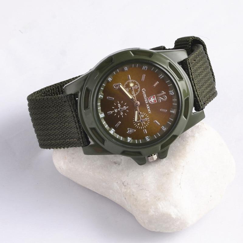 Luxury Men Military Army Bomber Pilot Canvas Strap Sports Men Boy Wrist Watch Men Nylon Analog Quartz Clock Relogio Masculino