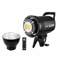 Photo Studio Godox SL 60W SL 60Y CRI SL60W 95 + LED Luz de Vídeo 5600 K Branco 60 W Bowens Monte + controle Remoto + Refletor