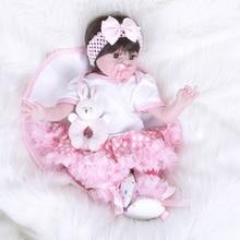 22 polegada Bebes Reborn Lifelike Renascer Baby Dolls Brinquedos Real de Silicona SB5551 De Menina Que Adora Baby Doll Brinquedos para As Crianças olaf
