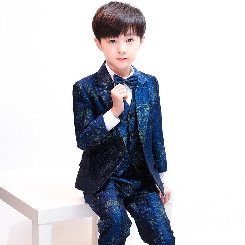 Childrens small suit piano costumes boys suits catwalk suits flower girl Korean version of the color casual dress suitChildrens small suit piano costumes boys suits catwalk suits flower girl Korean version of the color casual dress suit