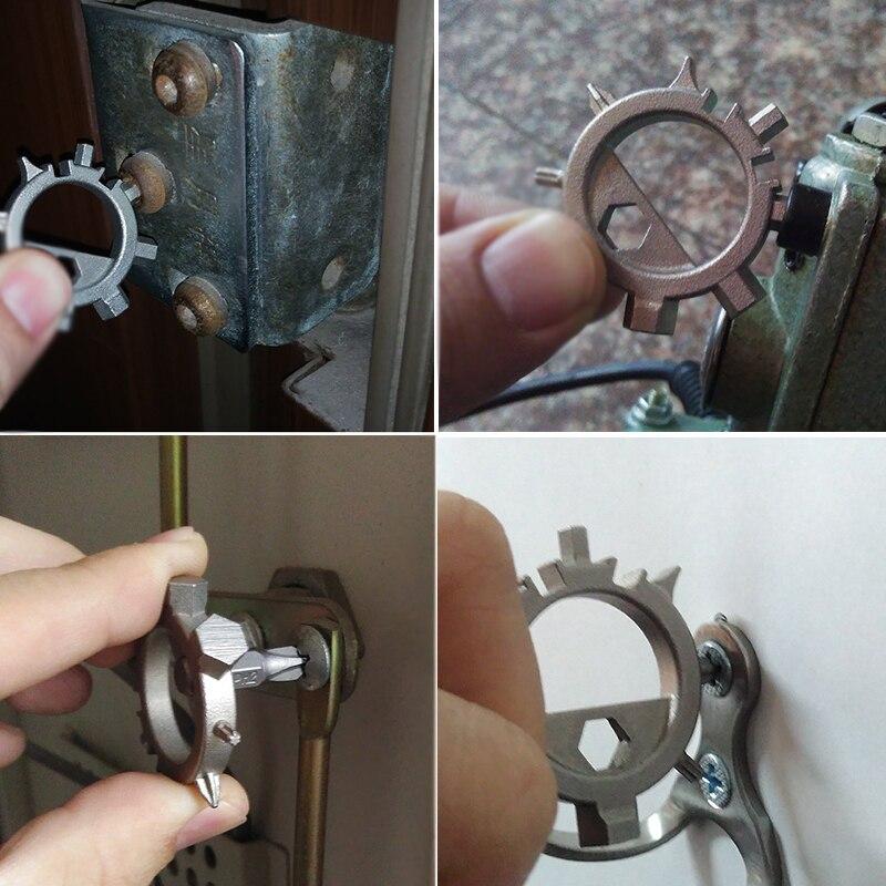 1Piece 12 Functions Multi Tool Screwdriver Portable Bicycle Repair Hand Tools Multitools Screw Driver Allen Key Ringtool