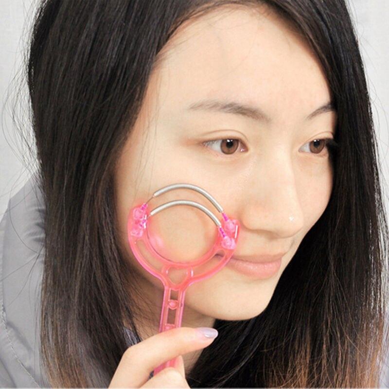 Frauen Kunststoff Gesicht Walze Haar Entfernung Frühling Gesichts Handheld Threading Schönheit Epilierer Werkzeug 60*40*60mm