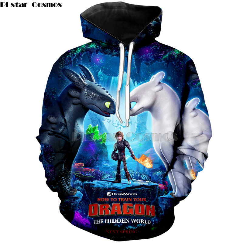 3bcc89d1 PLstar Cosmos 3D Print New Arrival How to Train Your Dragon Mens Printed  shirt Loose Pullover