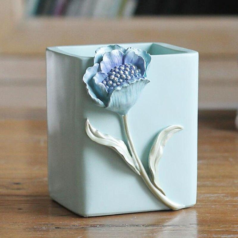 Stylo résine conteneur moules Silicone béton brosse Pot moule béton Vase moules sans trou résine photo cadre moule