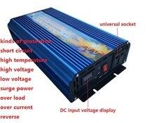 5000 w puissance de Crête onduleur puissance nominale 2500 W DC12V/24 V À AC110V/220 V 50 HZ 60 hz onde sinusoïdale pure Onduleur numérique affichage