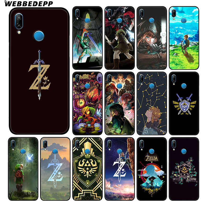 WEBBEDEPP Legend Of Zelda Soft Case For Huawei P30 P20 Pro P10 P9 Lite 2017 P Smart 2019 & Nova 3 3i Y9 2019