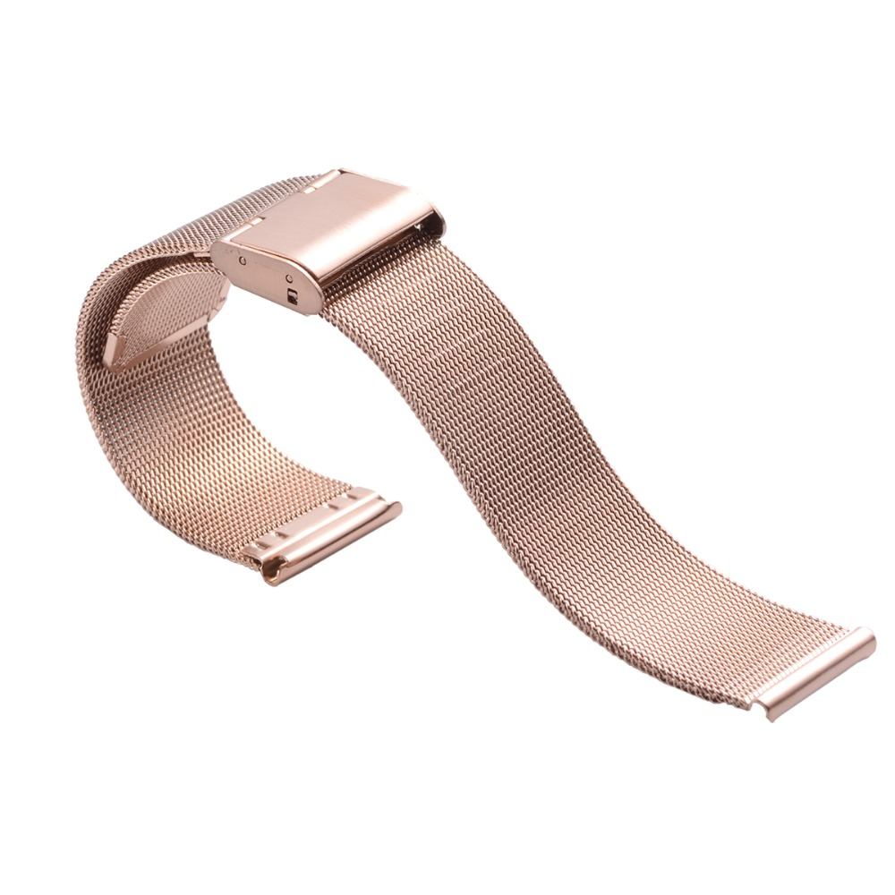 1piece selling 0.4mm Diameter Men Stainless Steel Mesh Watch Bracelet Watch Straps 18mm 20mm 22mm 24mm with smooth Head