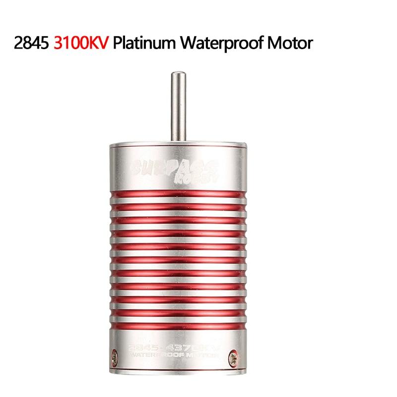 Image 2 - SURPASSHOBBY Platinum Waterproof Series 2845 4370KV 3930KV 3100KV Brushless Motor for Wltoys 12428 HG P601 1/14 1/12 RC Car-in Parts & Accessories from Toys & Hobbies